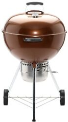 Charcoal Wood Kettle Bbq Grill Copper Ash Catcher Thermometer Weber 22 In.