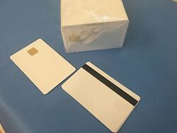 SLE 5528 Contact IC - Big Chip - White PVC Smart Card - HiCo 2 Track - 1000 Pack