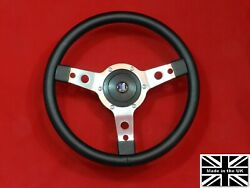 14 Classic Leather Steering Wheel And Hub. Fits Triumph Vitesse