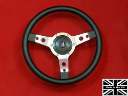 13 Classic Leather Steering Wheel And Hub. Fits Triumph Vitesse