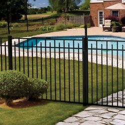 90' Of 54 High Carolina Style Pool Code Aluminum Fence W/posts And Caps