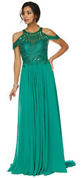 RED CARPET FORMAL EVENING GOWN DESIGNER PROM QUEEN COLD SHOULDER DRESS PAGEANT   $194.99