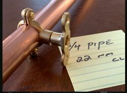 Copper Pipe Shelf Brackets Braced Style Supports Pair