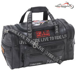 Rock Design Genuine Leather LIVE TO RIDE Tote Bag UNIVERSAL FIT - FOR ALL BIKES