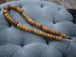Large Amber'/copal Traditional African Trade Beads Of Adornment 410g. Necklace