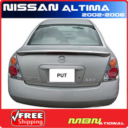 For 02-06 Nissan Altima Sedan Rear Trunk Tail Wing Spoiler Primer Unpainted Abs