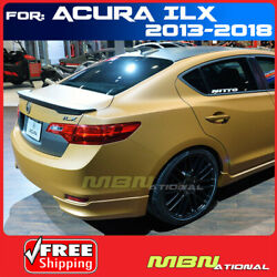 13-18 For Acura Ilx Trunk Lip Abs Spoiler Painted Nh737m Polish Metal Metallic