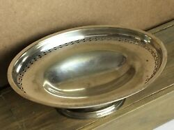 Old Hecworth Epns Silver Plate Oval Centerpiece Dish Cut Open Work Fruit Bowl