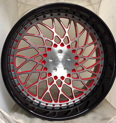 "24"" Brush Center With Red Windows  Black Outer and Red Bolts"