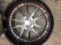 "24"" Brush Center With Black Outer red bolts"