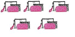 5 SETS OF BRAND NEW VICTORIA SECRET COSMETIC MAKEUP BAGS PINK TRIO WRISTLET