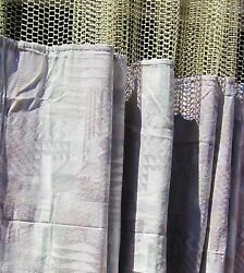 LOT OF 3 - (Pattern AE) - HOSPITAL PRIVACYCUBICLE CURTAINS - FLAME RETARDANT