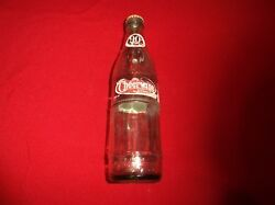 Collectible Cheerwine 90th Anniversary Clear Glass Bottle Old Soda Pop Bottles