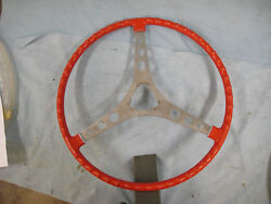 1959-62 Corvette Steering Wheel Without Bell Red
