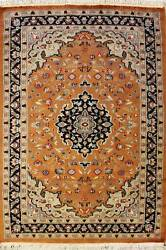 Rugstc 3x5 Pak Persian Orange Area Rug, Hand-knotted,floral With Wool Pile