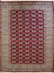 Rugstc 5x8 Bokhara Jaldar Red Area Ruggenuine Hand-knotted Silk/wool Pile