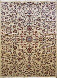 Rugstc 6x9 Pak Persian Orange Area Rug, Hand-knotted,floral With Silk/wool Pile