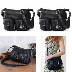 Small Crossbody Bag For Women Washed Leather Messenger Shoulder Bags Girls Multi