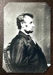 Abraham Lincoln President Civil War Military Tintype C215rp