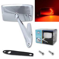 67 68 Ford Mustang Falcon Chrome Outside Exterior Right Side Led Convex Mirror