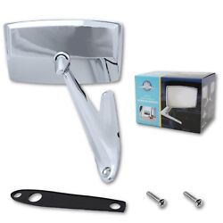 67 68 Ford Mustang Falcon Chrome Outside Exterior Side Right Rh Convex Mirror