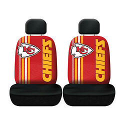 New Football Kansas City Chiefs Seat Covers Universal For Cars Suvs - 4 Pc