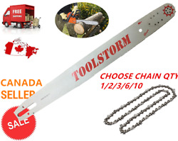 24/25 Toolstorm Pro Chainsaw Bar And Chain Combo 3/8 .063 84dl Stihl Ms660 Ms390
