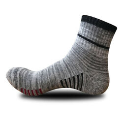 5pairs Mens Sport Ankle Socks Cotton Napped Hosiery Breath Dress Camping Hiking