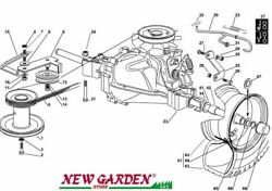 Transmission Exploded View 28 5/16in Xf135hd Mower Lawn Castelgarden 2002-13