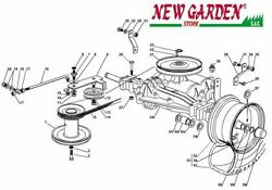 Transmission Exploded View 28 5/16in Xf130 Mower Lawn Mower Castelgarden 2002-13