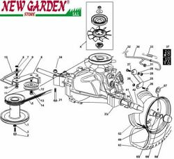 Transmission Exploded View 28 5/16in Xf140hdm Mower Lawn Castelgarden Parts