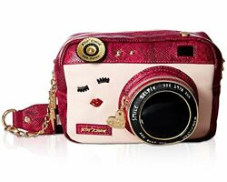 Betsey Johnson Women's Close Up Crossbody Fuchsia Crossbody Bag