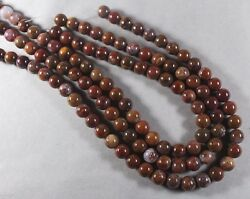 Red-brown Agua Nueva Agate 10mm Round Beads 16 Strand