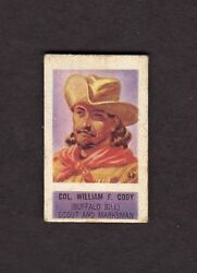 William F. Buffalo Bill Cody, Col., Scout And Marksman Trading Card