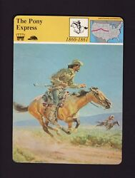 William F. Buffalo Bill Cody, The Pony Express, Fastest In West Trading Card