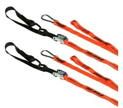 Motorcycle Bike Motocross Mx Tie Downs Straps With Extra Loop And Carabiner Clip 1