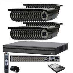 32channel 6mp H.265 All-in-1 Dvr 1800tvl 3-12mm Lens Security Camera System 7yu