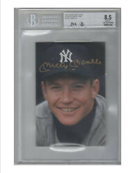 1991 SCORE MICKEY MANTLE AUTOGRAPHS 7 CARDS WITH TWO ADVERTISING PIECES 11