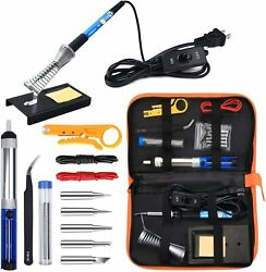 Anbes Soldering Iron Kit Electronics 60w Adjustable Temperature Welding Tool