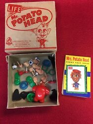 VINTAGE MR. POTATO HEAD HASBRO 1954-1956 ORIGINAL LIFE BOX & MANUAL VERY RARE!!!