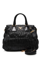 Pre-Owned Prada Leather Shopping Bag  (Black; Leather)
