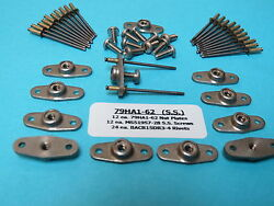 6-32 Stainless Steel Anchor Nutplate + Install Kit 12 With Ss Screws And Rivets