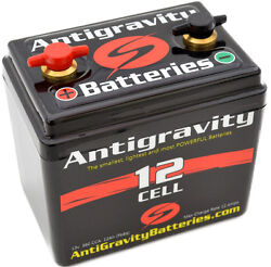 Antigravity 12-cell Lithium Motorcycle Battery 4.50 X 3.12 X 4.25 2.4 Lbs