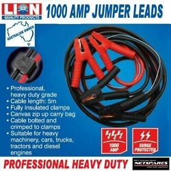 Booster Jumper Leads Heavy Duty 1000 Amps Professional 5m Cable Trucks Machinery