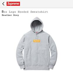 Supreme Hooded Box Logo Heather Grey Size Large Sold Out Order Confirmed