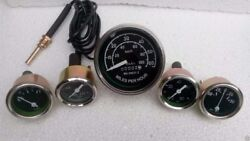 Willys Mb Jeep Ford Gpw Cj -speedometer Temp Oil Fuel Ampere Gauge Kit- A 3