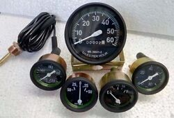 Willys Mb Jeep Ford Gpw Cj- Speedometer Temp Oil Fuel Ampere Gauge Kit- A 4