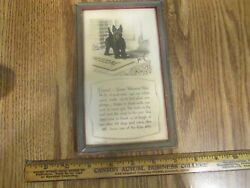 Vintage  Buzza Motto Guest You're Welcome here Frame  Scottish Terrier