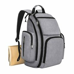 Mancro Diaper Bag Backpack Organizer Back Pack for Mom  Dad with Baby Stroller