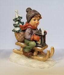 Hummel Figurine Ride Into Christmas Used, In Excellent Condition